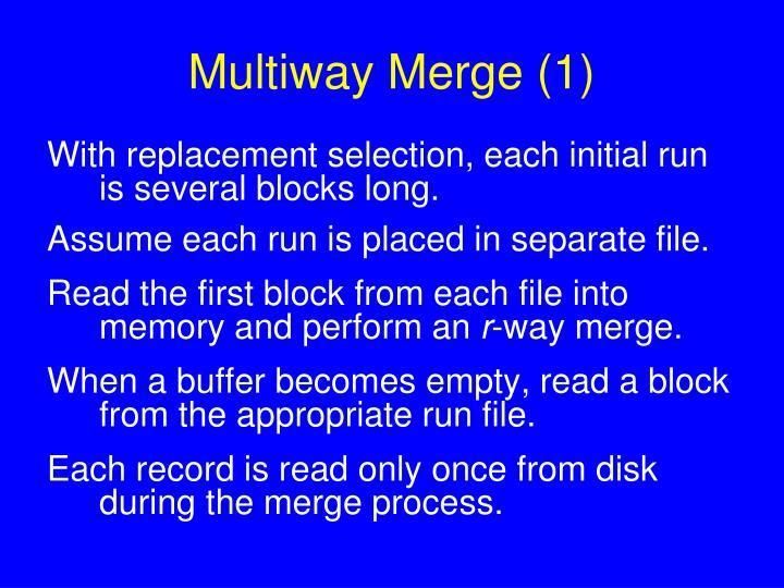 Multiway Merge (1)