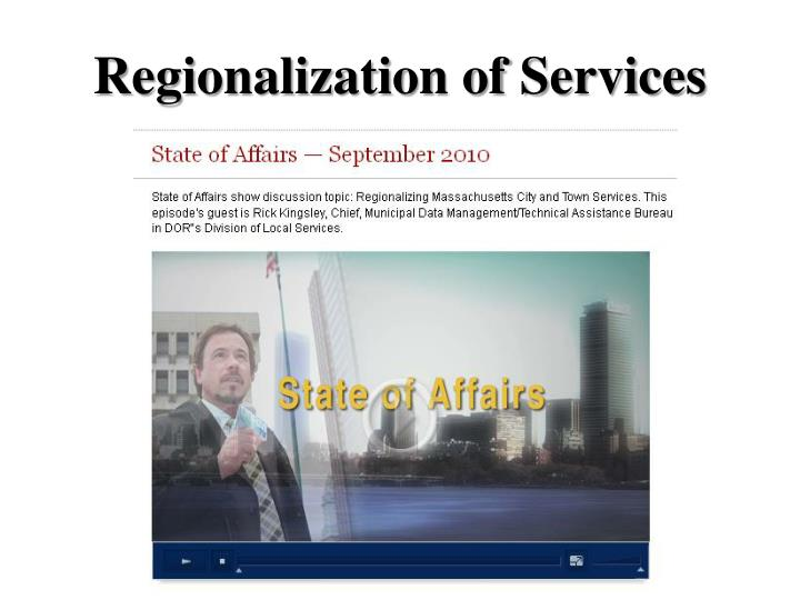 Regionalization of Services