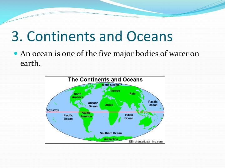 3. Continents and Oceans