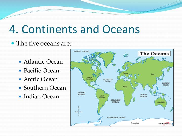 4. Continents and Oceans
