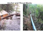 anchor and thrust blocks