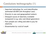 conclusions technography 1
