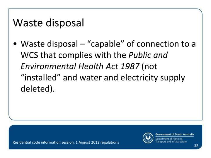 Waste disposal