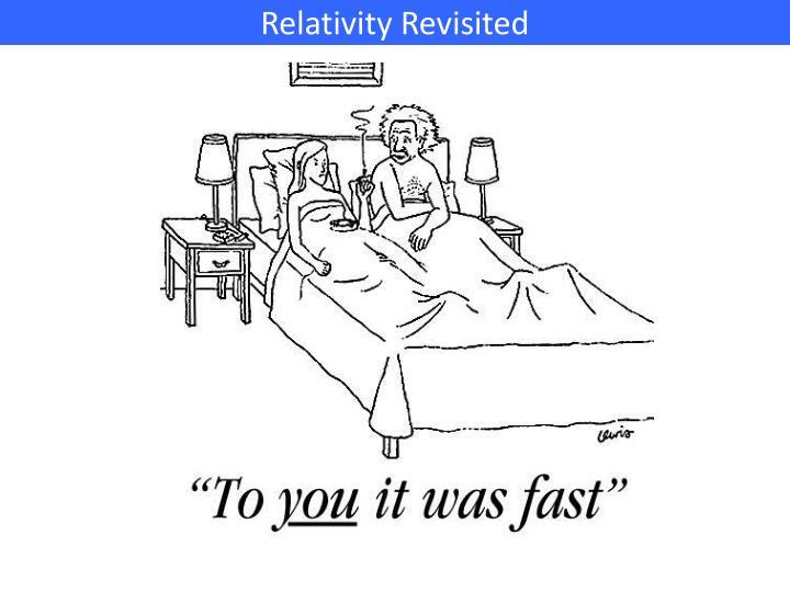 Relativity Revisited