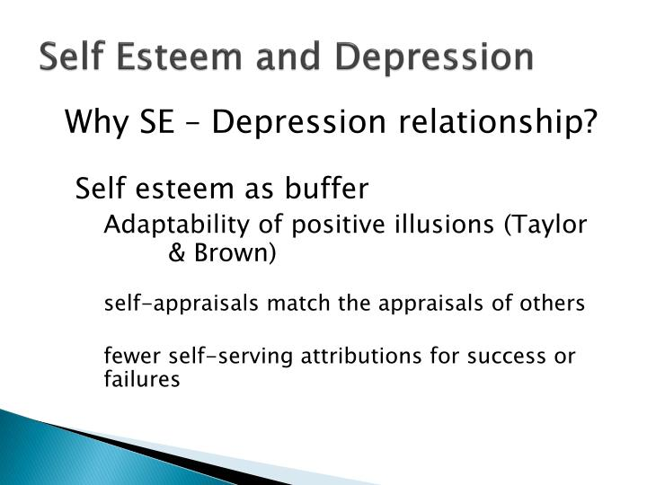 Self Esteem and Depression
