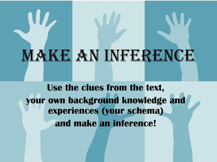 make an inference n.