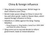 china foreign influence