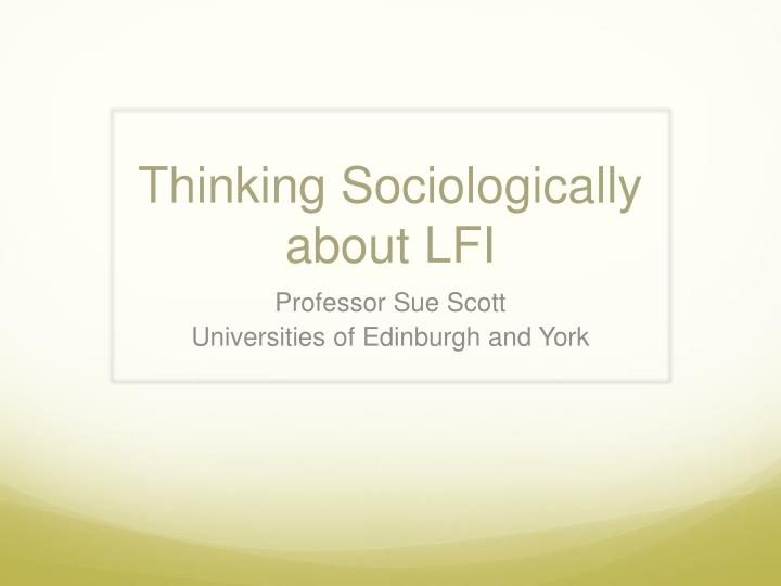 does mean think sociologically illustrate your answer exam To think sociologically and use your sociological imagination what is a theory in sociology it is a collection if inter-related ideas that are applied to social phenomenon to help is understand the phenomenon.