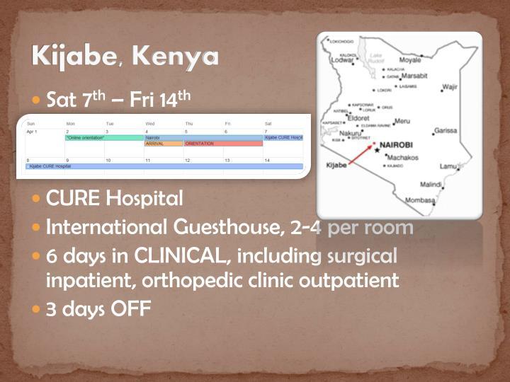 Kijabe, Kenya