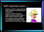 staff responses count