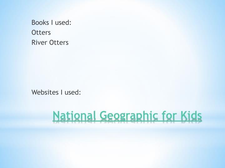 Books I used: