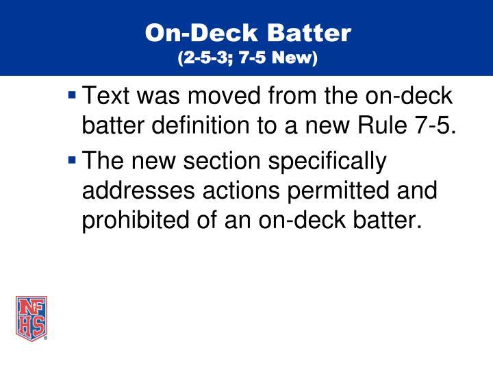 On-Deck Batter