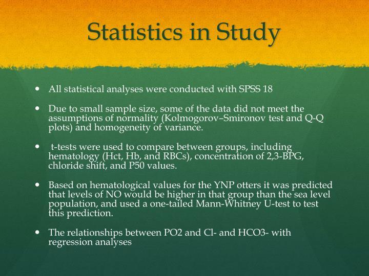 Statistics in Study