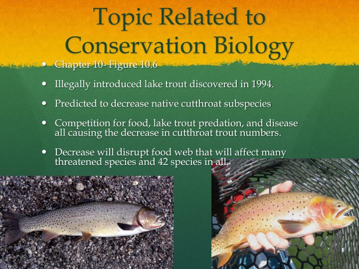 Topic related to conservation biology