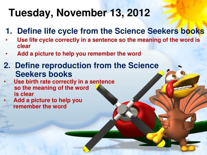 Tuesday november 13 2012