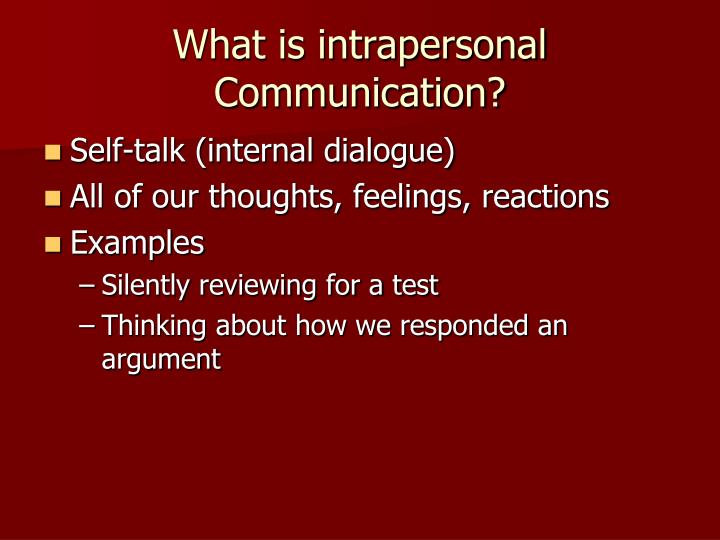 what is intrapersonal