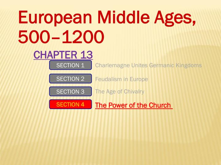 European Middle Ages,