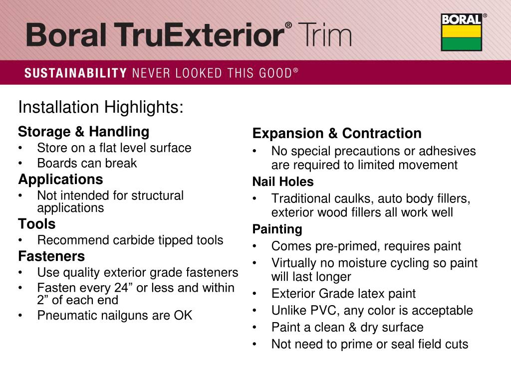 PPT - TruExterior Trim Like no other…  PowerPoint Presentation - ID