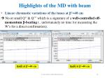 highlights of the md with beam3