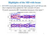 highlights of the md with beam5