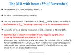 the md with beam 5 th of november