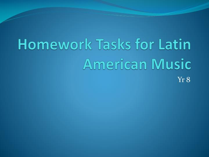 Do latin homework