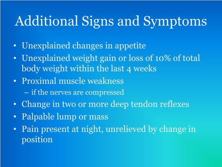 differential diagnosis unexplained weight loss
