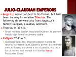 julio claudian emperors
