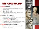 the good rulers1