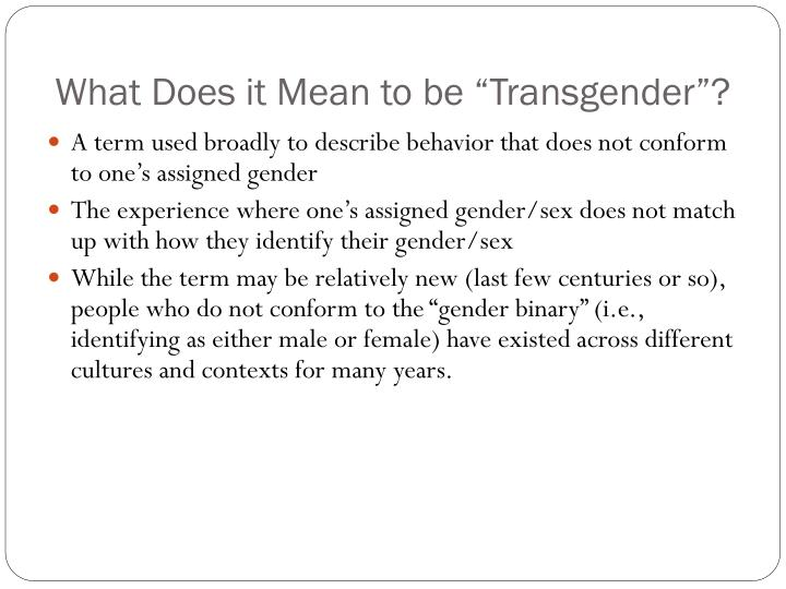 What Does It Mean To Be Transexual