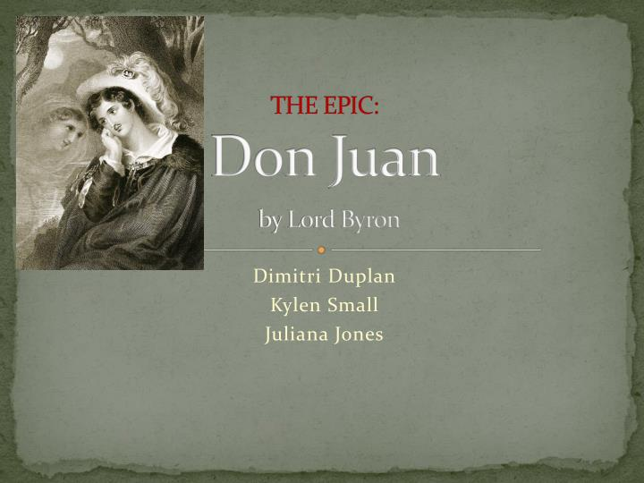 the epic don juan by lord byron n.