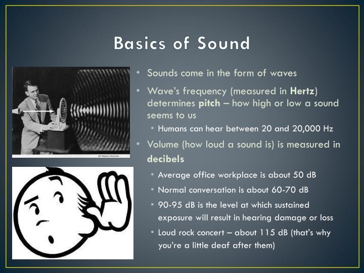 Basics of sound