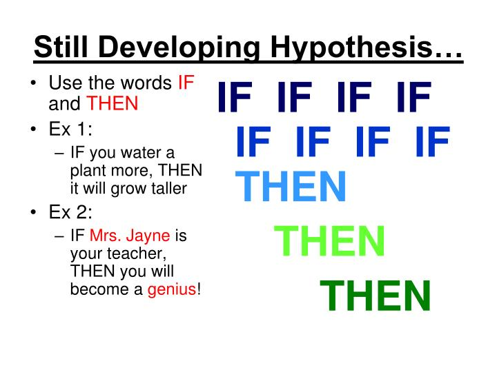 developing hypothesis Developing hypothesis and research questions - the presentation below offers an indepth look at hypotheses and research questions and how they relate to the overall project and drive the research process.