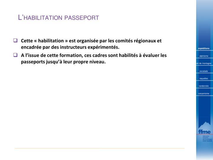 L habilitation passeport1