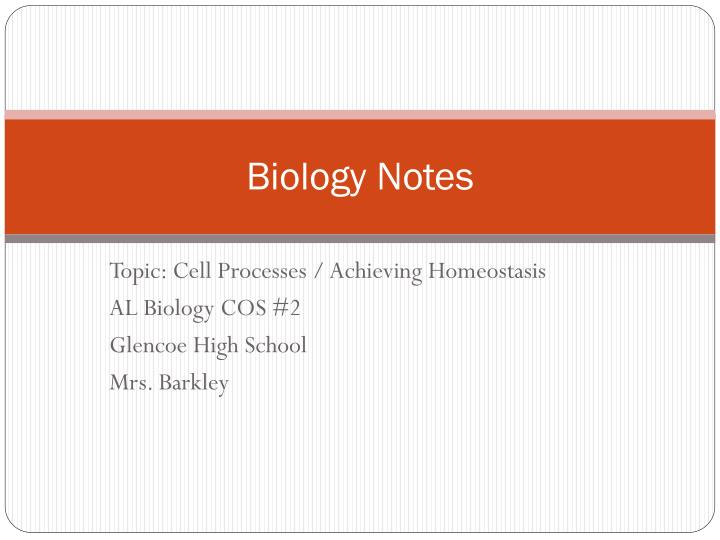 PPT Biology Notes PowerPoint Presentation ID 1973594