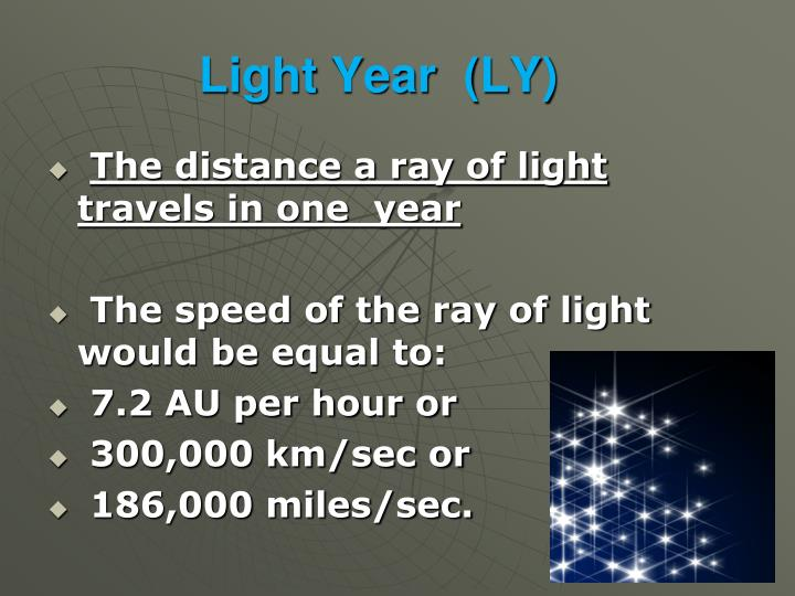 Light Year  (LY)