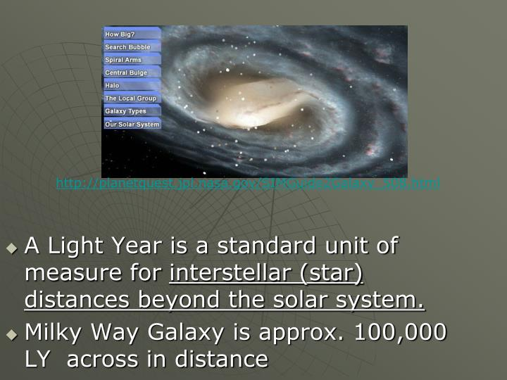A Light Year is a standard unit of measure for