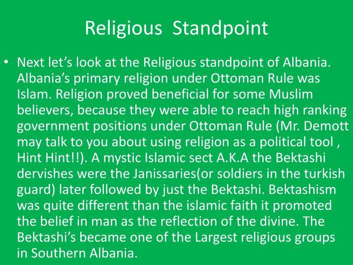 Religious standpoint1