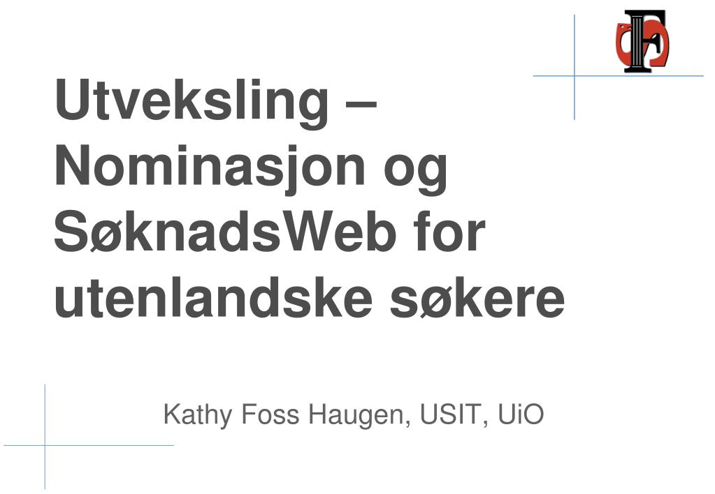 Søknadsweb Uio