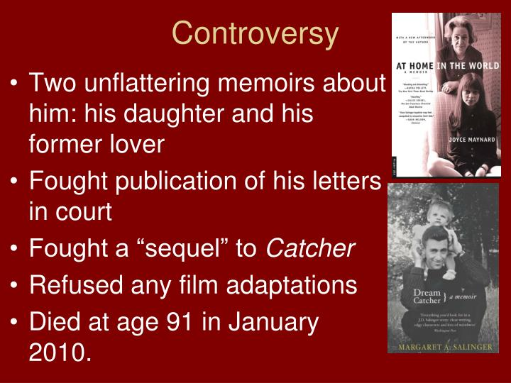 PPT The Catcher In The Rye By JD Salinger PowerPoint Unique Dream Catcher Memoir
