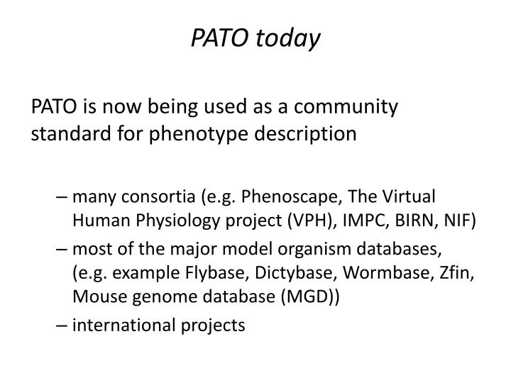 PPT - Phenotype And Trait Ontology (PATO) and plant phenotypes ...