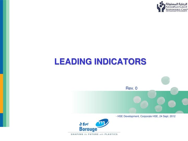 Leading indicators