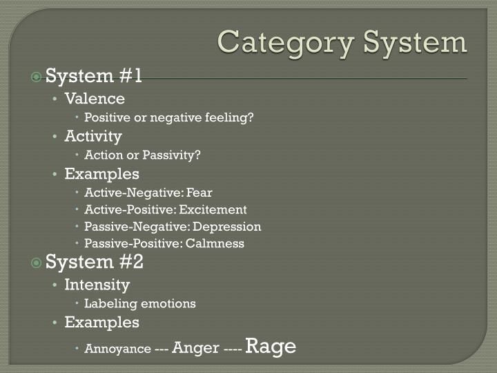 Category System