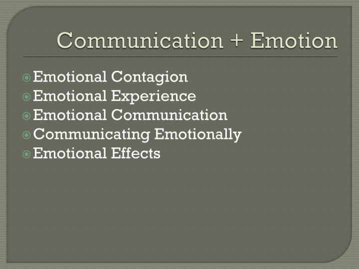 Communication + Emotion