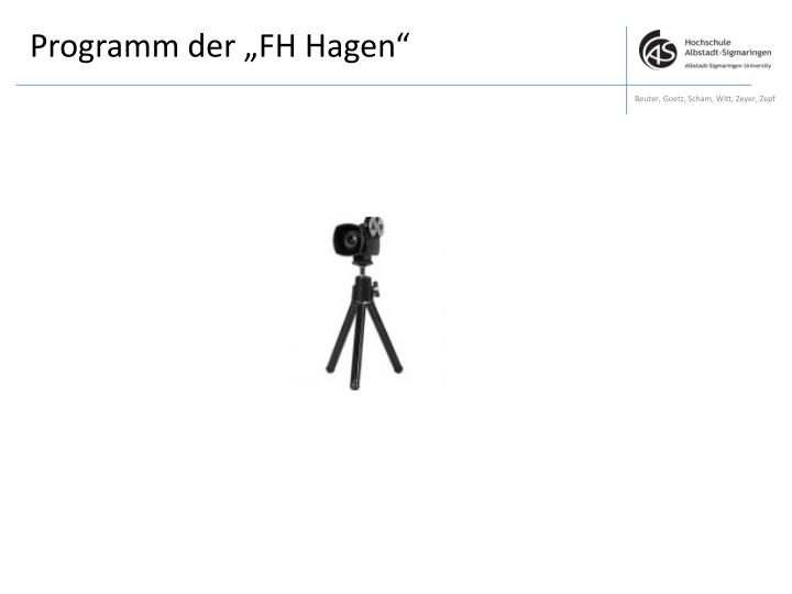 """Programm der """"FH Hagen"""""""