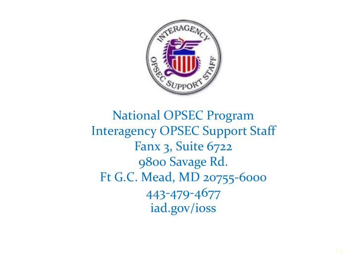 National OPSEC Program