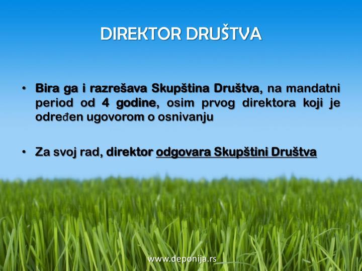 DIREKTOR DRUŠTVA