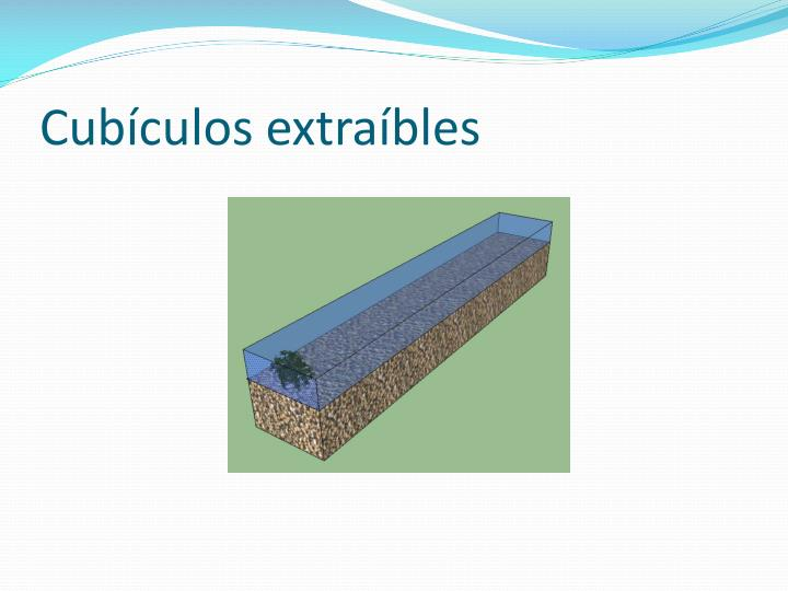 Cubículos extraíbles