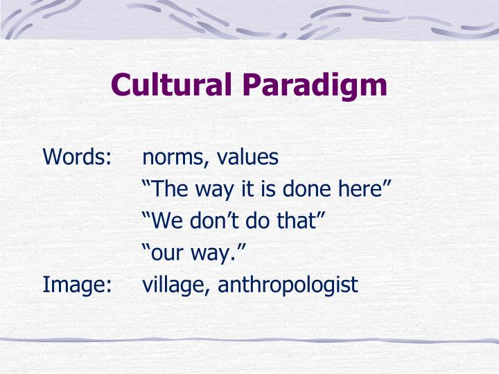 Cultural Paradigm