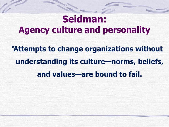 Seidman: